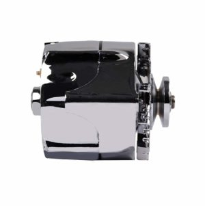 Aopec 100201 Ford 1 wire alternator , 100 Amp Chrome V-belt 1-wire