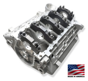 Bill Mitchell Products BMP 085575 - Aluminum Engine Block Chevy 409 W Block 9.600 Deck, 4.250 Bore, Billet Caps