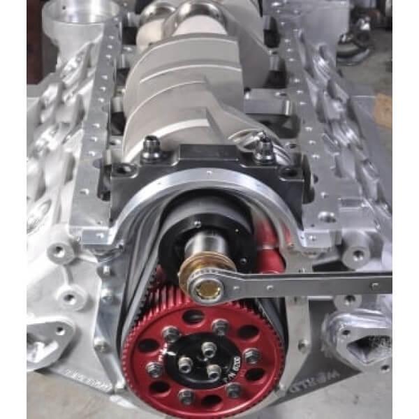 Bill Mitchell Products BMP 085575 - Aluminum Engine Block Chevy 409 W Block 9.600 Deck, 4.250 Bore, Billet Caps