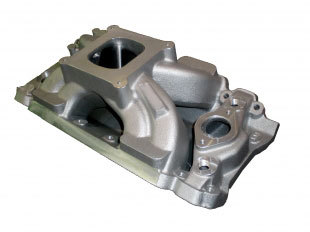 """Bill Mitchell Products BMP 063030 - Intake Manifold Chevy Big Block 9.800"""" 4150 Carb Flange"""