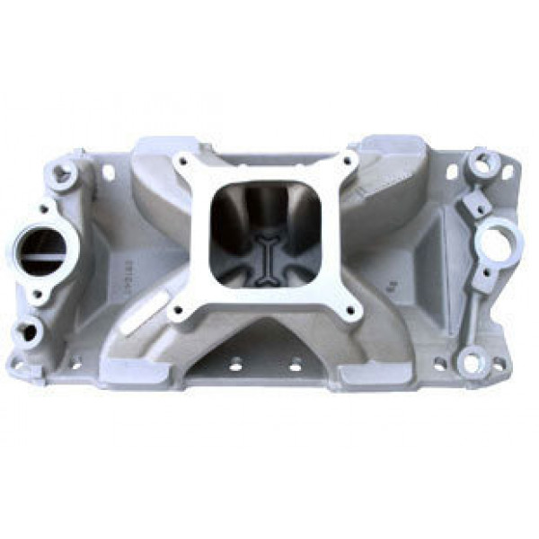 Bill Mitchell Products BMP 061040 - Intake Manifold Chevy Small Block 4150 Carb Flange