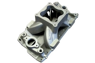 Bill Mitchell Products BMP 061050 - Intake Manifold Chevy Small Block 4500 Carb Flange