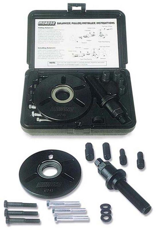 Moroso #61743- Harmonic Balancer Installation and Removal Tool Kit, Chevy, Ford, Mopar, KB Hemi, Pontiac, Oldsmobile, and Buick