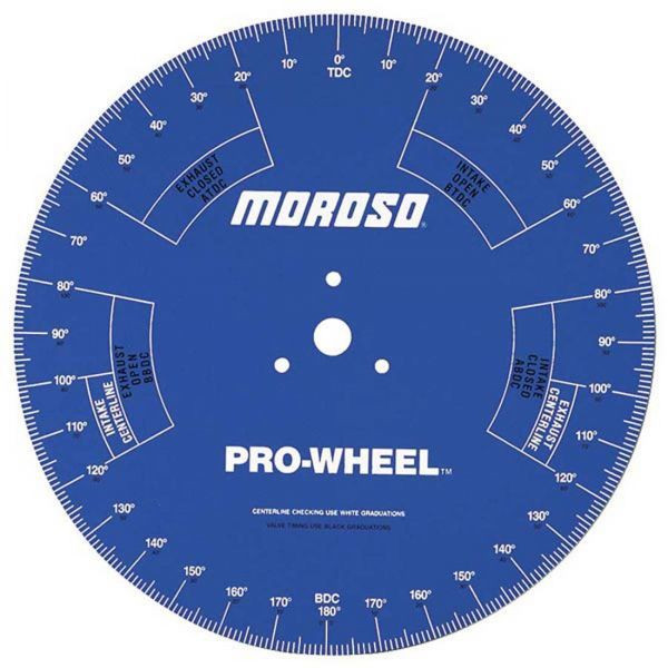 "Moroso #62191- 18"" Degree ""Pro Wheel"", For engine stand use"