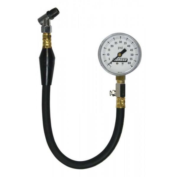 Moroso #89560 Tire Pressure Gauge, dial type, 0-60 psi