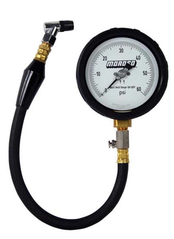 Moroso #89562 Pro Series Tire Pressure Gauge, 0-60 psi. Major increments at 10 psi with minor increments at 0.5 psi