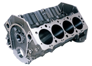 Dart 31263344 - Cast Iron Big M Sportsman Engine Block Chevy Big Block 9.800 Deck, 4.250 Bore, Billet Caps