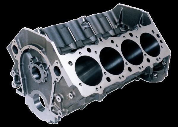 Dart 31263344 - Cast Iron Big M Sportsman Engine Block Chevy Big Block 9.800 Deck, 4.250 Bore, Billet Caps