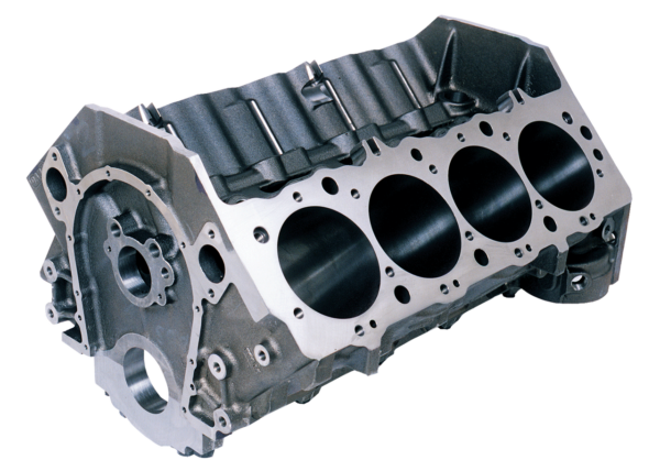 Dart 31263444 - Cast Iron Big M Sportsman Engine Block Chevy Big Block 9.800 Deck, 4.500 Bore, Billet Caps