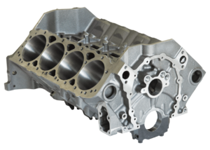 "Dart 31161211 Cast Iron SHP High Performance Engine Block Chevy Small Block 350 Mains, 4.125"" Bore, Ductile Caps"