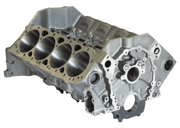 "Dart 31161212 Cast Iron SHP PRO High Performance Engine Block Chevy Small Block 350 Mains, 4.125"" Bore, Billet Steel Caps"