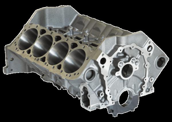 Dart 31131111 Cast Iron Little M Engine Block Chevy Small Block 350 Mains, 4.000 Bore, Billet Steel Caps