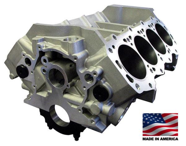 Bill Mitchell Products BMP 087510 - Aluminum Engine Block Ford Small Block 302 Mains, 8.200 Deck, 3.995 Bore, Billet Caps