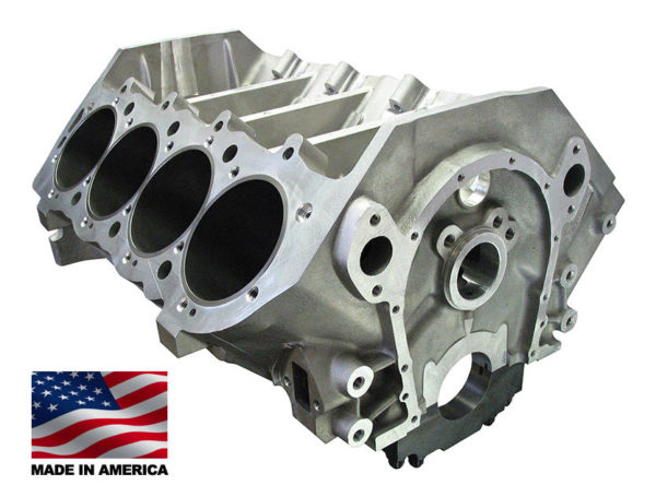 Bill Mitchell Products BMP 085501 - Aluminum Engine Block Chevy Big Block 9.800 Deck, 4.490 Bore, Billet Caps