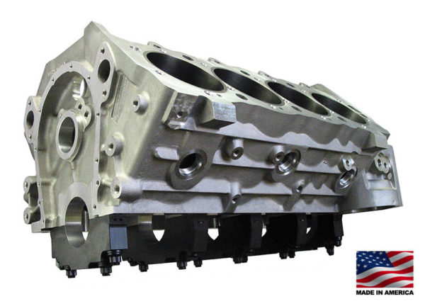 Bill Mitchell Products BMP 085500 - Aluminum Engine Block Chevy Big Block 9.800 Deck, 4.240 Bore, Billet Caps