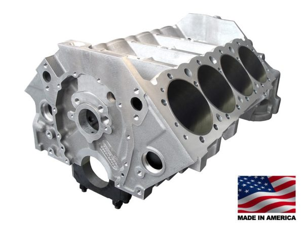 Bill Mitchell Products BMP 084530 - Aluminum Engine Block Chevy Small Block 400 Mains, 4.115 Bore, Billet Caps