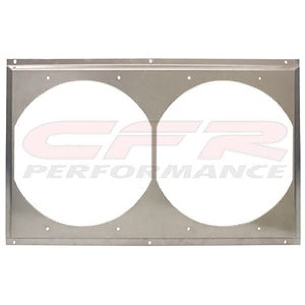 "CFR Performance Radiator Fan Shroud 25-5/8"" x 16-5/8"" x (2) 12"" HZ-1008-31"