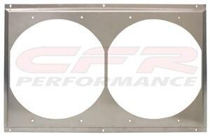 """CFR Performance Radiator Fan Shroud 25-5/8"""" x 16-5/8"""" x (2) 12"""" HZ-1008-31"""