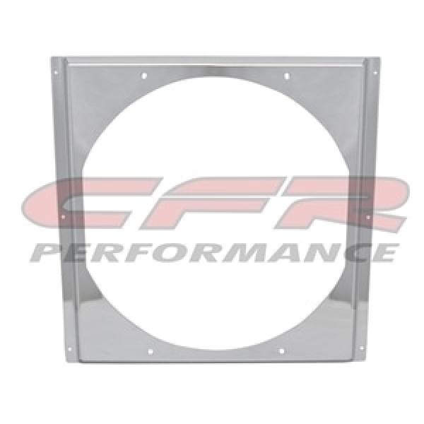 """CFR Performance Chrome Radiator Fan Shroud 16-5/8"""" x 16-5/8"""" x 14"""" HZ-1008C-22"""