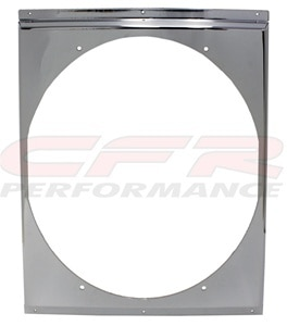 """CFR Performance Chrome Radiator Fan Shroud 16-5/8"""" x 18-5/8"""" x 16"""" HZ-1009C-22"""