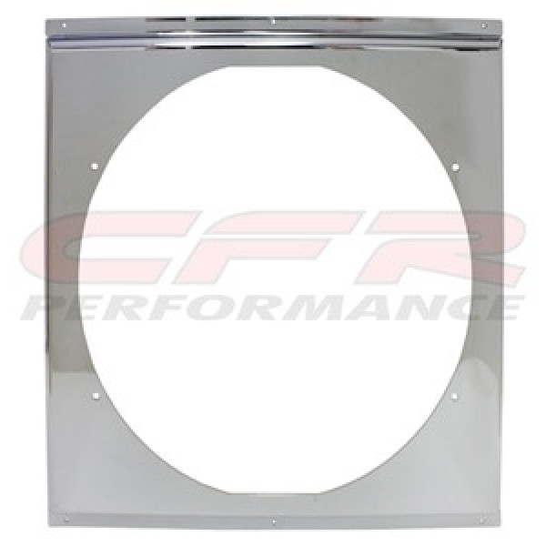 "CFR Performance Chrome Radiator Fan Shroud 18-5/8"" x 18-5/8"" x 16"" HZ-1009C-24"