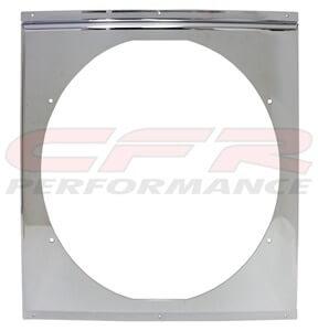 """CFR Performance Chrome Radiator Fan Shroud 18-5/8"""" x 18-5/8"""" x 16"""" HZ-1009C-24"""