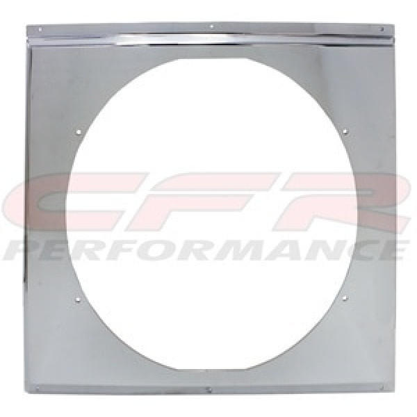 "CFR Performance Chrome Radiator Fan Shroud 20-5/8"" x 18-5/8"" HZ-1009C-26"