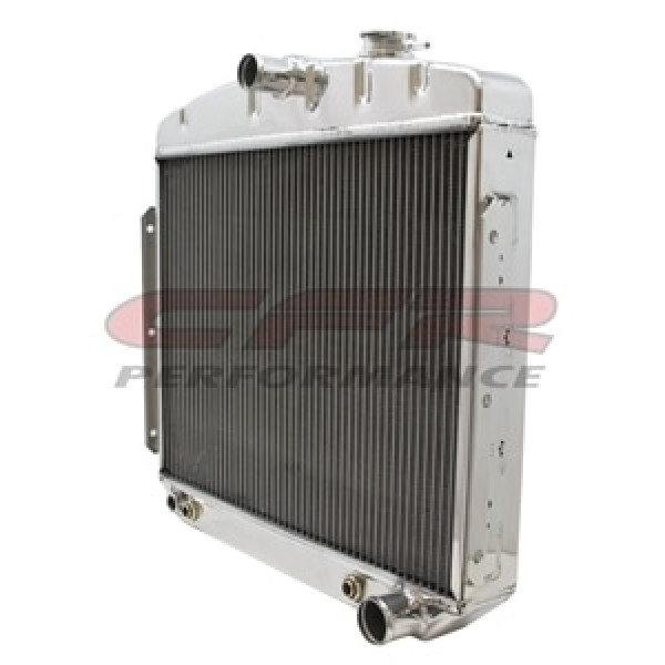 Polished 1955-1956 Chevy V6 Radiator HZ-5556-6-POL