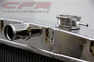 Polished 1955-1957 Chevy V8 Radiator HZ-5557-8-POL
