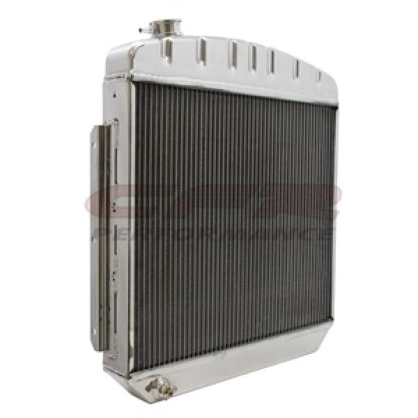 Polished 1957 Chevy Straight/Inline 6 Radiator HZ-5700-6-POL