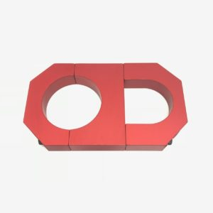 """BMP - 2.000"""" Billet Aluminum Bottle Clamp with 1.625"""" Roll Bar Clamp"""