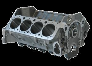 "Dart 31121112 Cast Iron, Iron Eagle Engine Block Chevy Small Block 350 Mains, 4.000 Bore, +.391"" Raised cam, Billet Steel Caps"