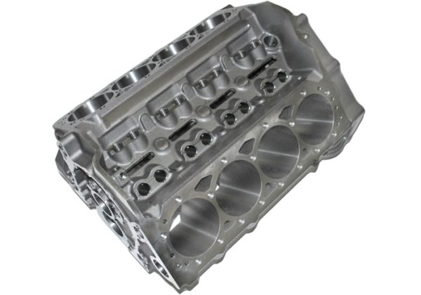 World Products 083020 - Cast Iron Motown PRO LIGHTWEIGHT Engine Block Chevy Small Block 350 Mains, 4.120 Bore, Nodular Caps