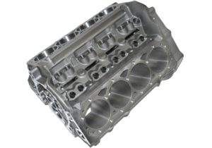 World Products 083020-BBC - Cast Iron Motown PRO LIGHTWEIGHT Engine Block Chevy Small Block 350 Mains, 4.120 Bore, Nodular Caps