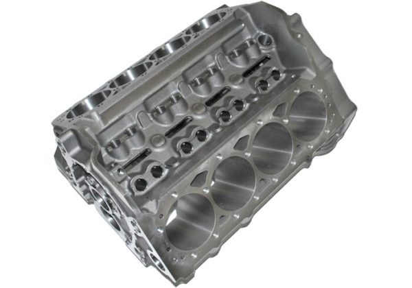 World Products 083010 - Cast Iron Motown PRO LIGHTWEIGHT Engine Block Chevy Small Block 350 Mains, 3.995 Bore, Nodular Caps
