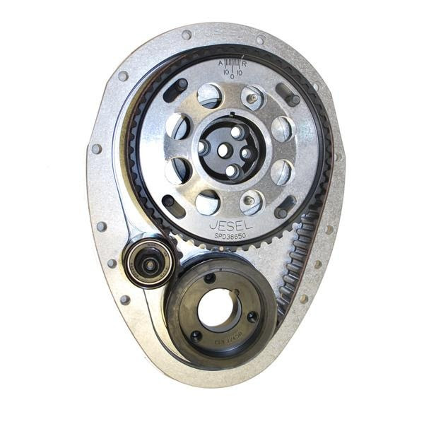 """Jesel KBD31350 - Belt Drive Systems Chevy Small Block 2-Piece Upper Pulley World Products +.134"""" Raised Cam"""