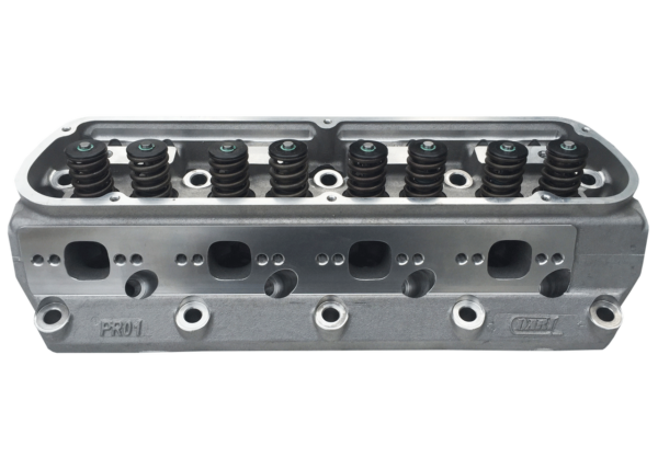 "Dart 13201111 Cylinder Heads Aluminum Small Block Ford Pro1 195cc 58cc 2.020"" x 1.600"", Assembly w/ 1.250"" Single Springs for Hydraulic Flat Tappet Cam"