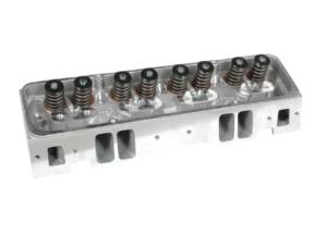 "Dart 11721143P Cylinder Heads Aluminum Small Block Chevy Pro1 230cc 64cc 2.080"" x 1.600"" Straight Plug, Assembly w/ 1.550"" Dual Springs for Roller Lifters"
