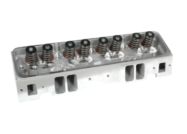 "Dart 11211111P Cylinder Heads Aluminum Small Block Chevy Pro1 180cc 72cc 2.020"" x 1.600"" Angled Plug, Assembly w/ 1.250"" Single Springs for Hydraulic Flat Lifters"