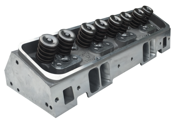 "Dart 11981163P Cylinder Heads Aluminum Small Block Chevy Pro1 245cc 66cc 2.100"" x 1.600"" Straight Plug, Assembly w/ 1.550"" Dual Springs for Roller Lifters CNC Ported"