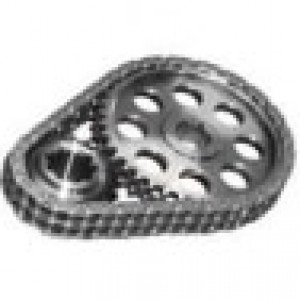 ROLLMASTER CS1050LB05 - Timing Chain Chevy Small Block 262/400 Pre/EFI Gold Series with Torrington Bearing & nitrided sprockets, 9 keyway crank sprocket -.005 chain
