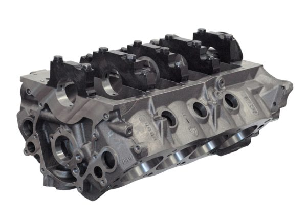 "Dart 31365135 - Cast Iron SHP Engine Block Ford Small Block 9.500"" Deck, 4.000 Bore, Billet Caps"