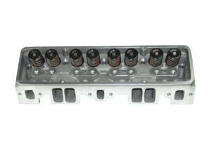 "Dart 127627 Cylinder Heads Aluminum Small Block Chevy SHP 220cc 72cc 2.050"" x 1.600"" Straight Plug, Assembly w/ 1.550"" Dual Springs for Solid Roller Cam"