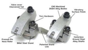 Jesel KPS472150 - Pro Series Shaft Mount Rocker System Chevy Big Block BMP Aluminum 24Degree Cylinder Heads