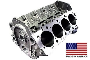 World Products 095012 - Cast Iron Merlin IV Engine Block Chevy Big Block 9.800 Deck, 4.595 Bore, Billet Caps