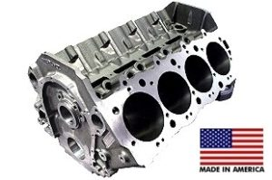 World Products 095000 - Cast Iron Merlin IV Engine Block Chevy Big Block 9.800 Deck, 4.245 Bore, Billet Caps