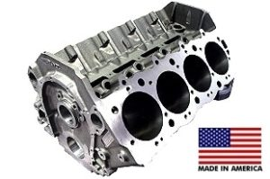 World Products 091102 - Cast Iron Merlin IV Engine Block Chevy Big Block 9.800 Deck, 4.595 Bore, Nodular Caps
