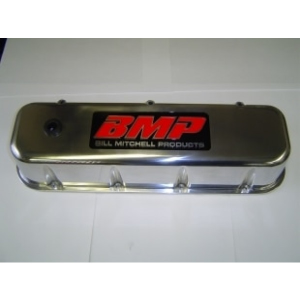 Bill Mitchell Products 70930BMP - Valve Covers Chevy Big Block Diecast Polished Tall BMP Logo
