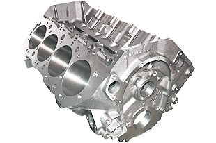 World Products 095112 - Cast Iron Merlin IV Engine Block Chevy Big Block 10.200 Deck, 4.595 Bore. Billet Caps