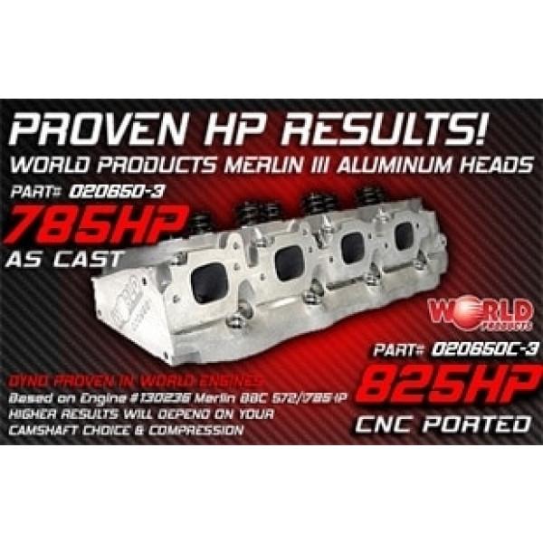 "Bill Mitchell Products BMP 020650 - Cylinder Heads Aluminum Chevy Big Block 310cc 119cc 24Degree 2.300"" x 1.880"""